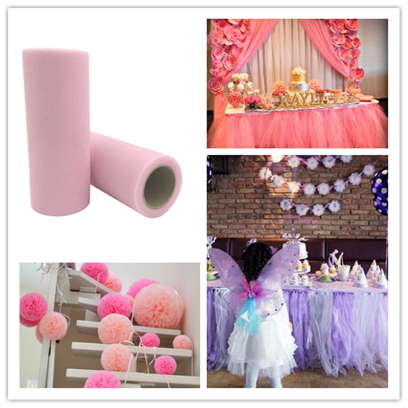 Home & Garden 5pcs 22m Apparel Sewing & Fabric 15cm Sheer Crystal Organza Tulle Roll Fabric For Wedding Party Birthday Party Baby Shower Supplies 8zsh811