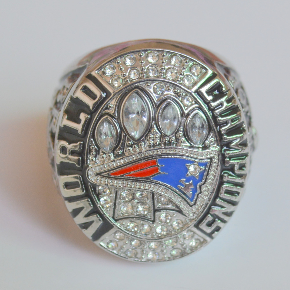 2014 2015 New England Patriots XLIX <font><b>Super</b></font> <font><b>Bowl</b></font> Championship Ring Size 11 Best Gift for Fans Collection