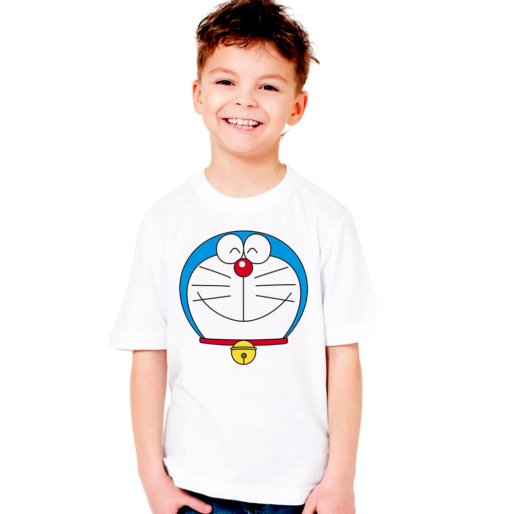 boy/girl unisex casual tee shirt Doraemon summer short sleeve tshirt toddlers Doraemon t-shirt infant cartoon tops baby clothes