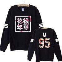 2016 Hip Hop Bts Bangtan Boys Album Floral Sweatshirts Fans Supportive Hipster Autumn Style Hoodies Women