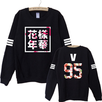 2016 Hip Hop Bts Bangtan Boys Album Floral Sweatshirts Fans Supportive Hipster Autumn Style Hoodies Women