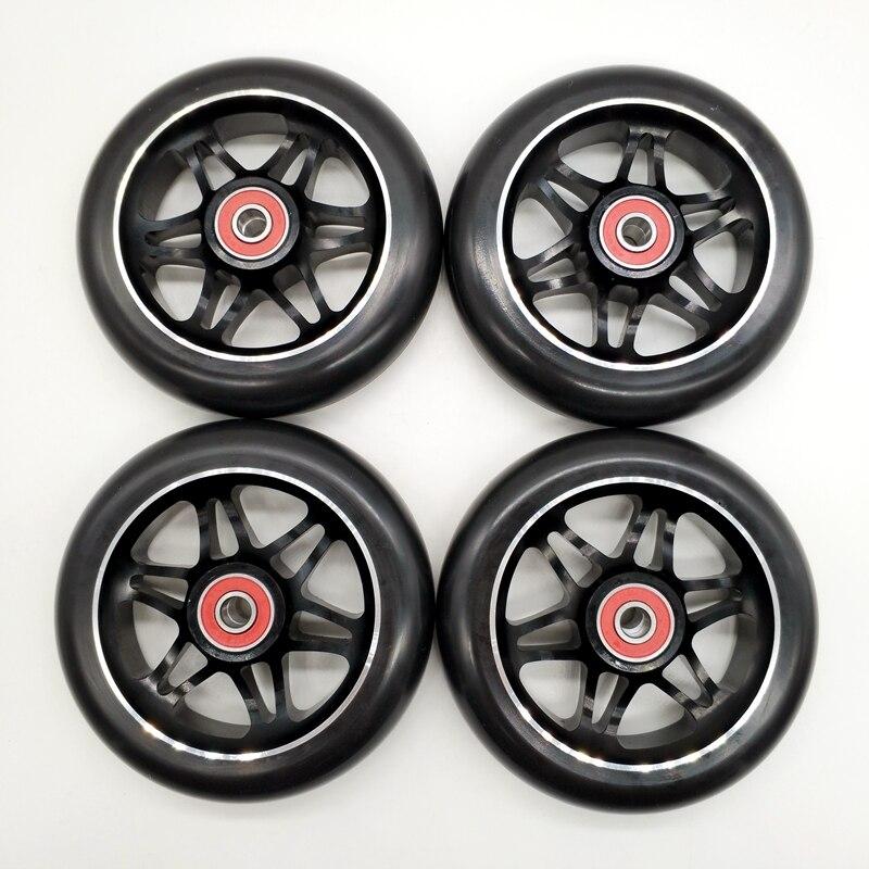 Free Shipping Speed Wheel Aggressive Skate Wheel Aluminium AL Hub 110 Mm 85 A Black