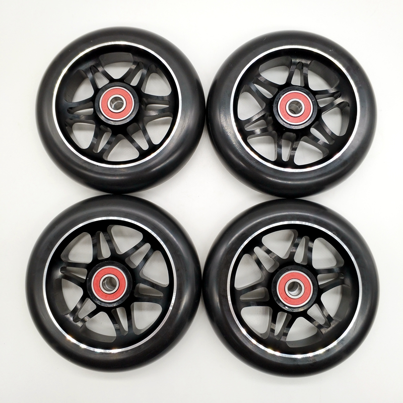 Free Shipping Stunt Wheel Aggressive Skate Wheel Aluminium AL Hub 110 Mm 85 A Black
