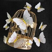 12Pcs/set Ambilight 3D Butterfly Wall Sticker Butterflies home decoration room decor Fridge Magnet wall stickers for wedding