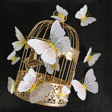 12Pcs/set Ambilight 3D Butterfly Wall Sticker Butterflies home decoration room decor Fridge Magnet wall stickers for wedding(China)