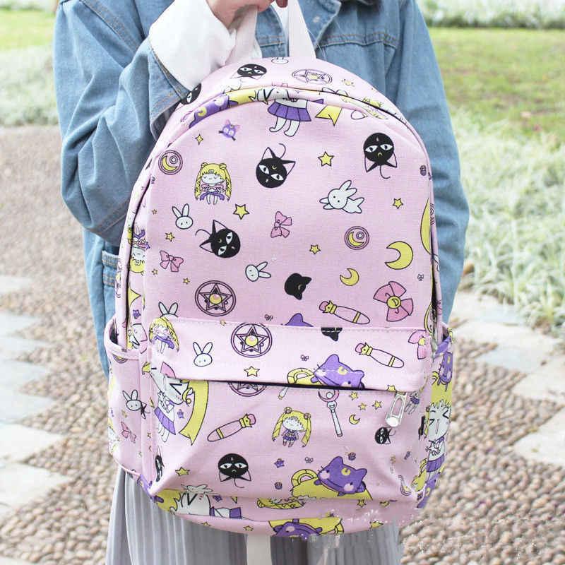 Anime Thủy Thủ Mặt Trăng Vải Bé Gái Du Lịch Schoolbag Ba Lô Học Sinh Sinh Viên Túi Đeo Vai