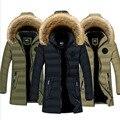 Winter Dicke Warme männer Lange Parkas Mantel Mann Hoodies-20 Grad Casual Outwear Jacken Mantel Größe L-4XL