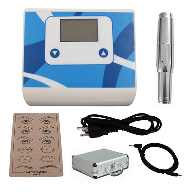 ¡ Caliente! 2016 Inteligente Kit de Maquillaje Permanente de Cejas labio agujas fuente de alimentación Del arma Del Tatuaje Práctica Piel Precio Al Por Mayor