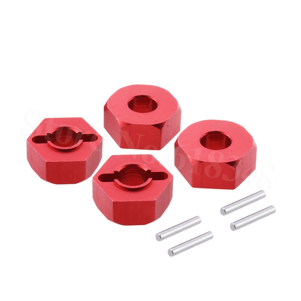 4Pcs Aluminum 12mm <font><b>Wheel</b></font> Hex Hub Adapter 0044 For FY-03 <font><b>WLtoys</b></font> <font><b>12428</b></font> 12423 1/12 RC Car Crawler Short Course Truck Upgrade Parts image