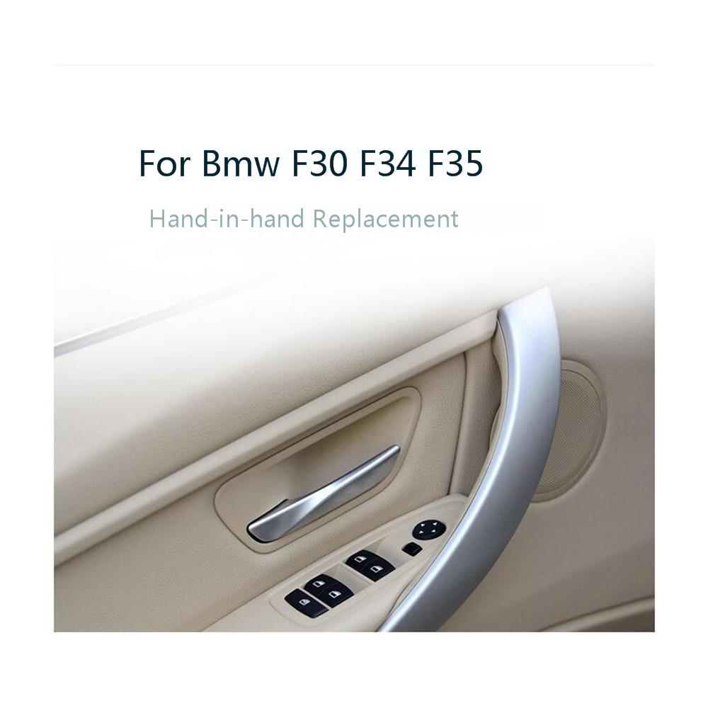 Car Interior Door Handle Pull Trim Cover For BMW F30 F31 F32 F33 F34 F35 F36 F80 Left Right Inner Panel Black Beige 51417279311
