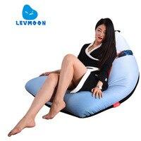 LEVMOON Beanbag Sofa Chair Michael Jackson Seat Zac Comfort Bean Bag Bed Cover Without Filler Cotton