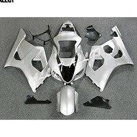 Aftermarket ABS Injection Mold Silver Plastic Bodywork Fairings For Suzuki GSXR1000 K3 2003 2004 GSXR 1000 GSX R1000 K3 03 04