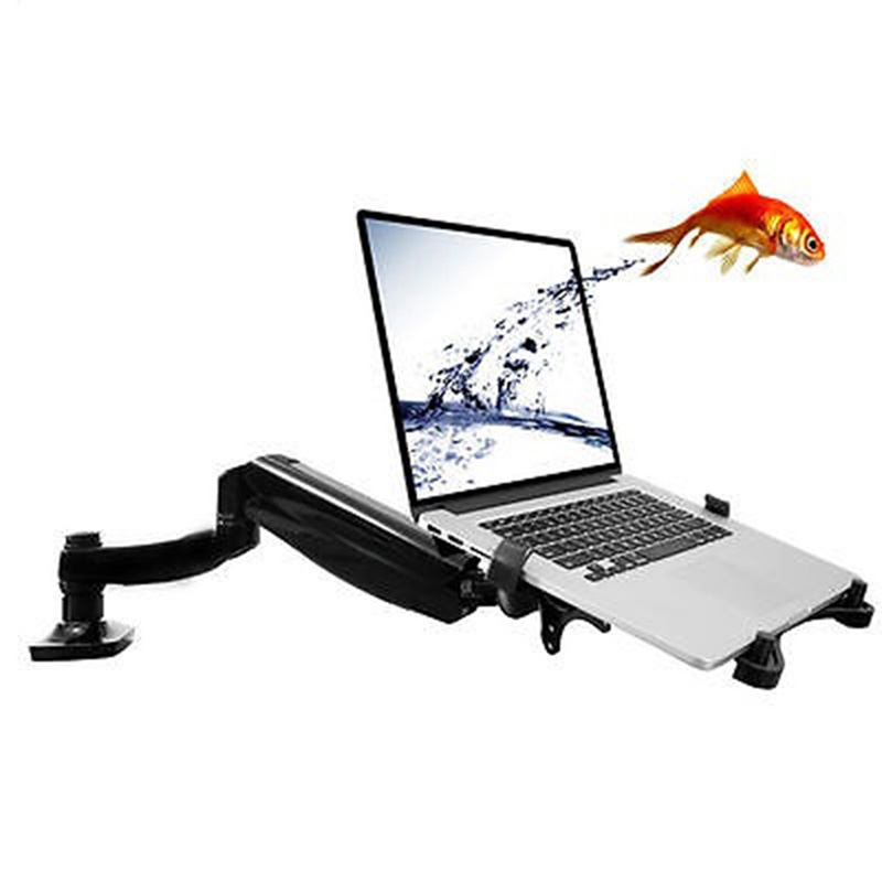 Loctek D5F Desktop Full Motion Gas Spring Dual Use 10 15 6 inch Laptop Mount Holder