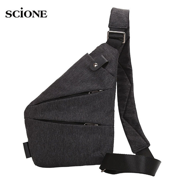 Men Sports Bags Chest Gym Bag Compact Single Shoulder Pack Mens Retro  Crossbody Sling Fitness Anti 31f5065699088