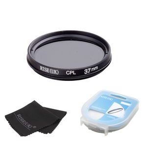Image 2 - Filtre CPL polarisant circulaire 37mm + étui + tissu pour Canon 1000D 650D 600D 550D 500D rebelle T4i T3i T3 T2i 18 55mm objectif