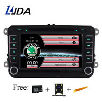 LJDA Two Din 7 Inch Car DVD Player For Skoda Octavia Fabia Rapid Yeti Superb VW