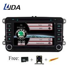 LJDA два Din 7 дюймов dvd-плеер автомобиля для Skoda Octavia Fabia Rapid Yeti Superb VW сиденье с Wi-Fi радио FM gps навигации 1080 P карта