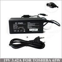 19v3. 42a65w portátil ac adaptador carregador fonte de alimentação para caderno toshiba satellite C655-S5231 L675D-S7052 U505-S2950 PA3917U-1ACA