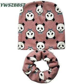 2pcs/set New Autumn Winter Cotton baby scarf Infant hats set child caps cap Retail and Wholesale