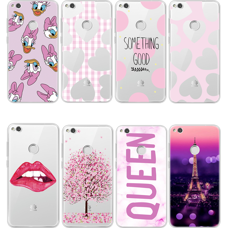 check out e71d7 c0b20 US $1.01 14% OFF|TPU Cherry Print Phone Case For Huawei P8 P9 P10 P20 Lite  Pro 2017 Mini Mate 10 Back Cover For Huawei P8 Lite Fundas Coque Capa-in ...