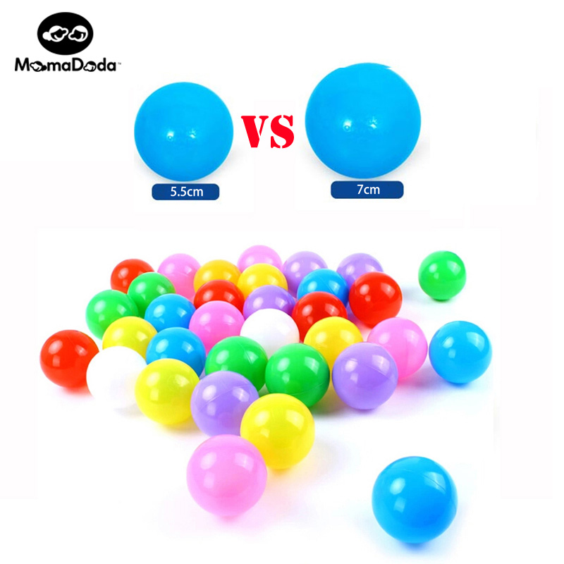 50PCS 7CM Eco-Friendly Pitballs Blød Pool Ocean Balls Stress Air Balls Udendørs Spil Spil Pit Balls For Pool Bad Legetøj