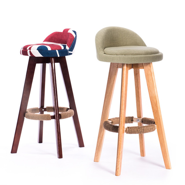 Pivotant Tabouret De Bar Chaise Avec Assise Et Dossier Rembourrs Acajou Naturel Finition Caf Cafe