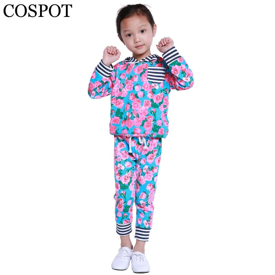 2018 New Baby Boys Girls Hoodies Suits 2Pcs Hoodies+Pants Toddler Boy Girl Spring Autumn Winter Sweatshirt Kids Clothing Set F17
