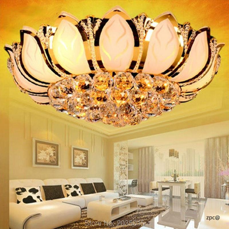 Online kaufen großhandel gold kristall kronleuchter aus china gold ...