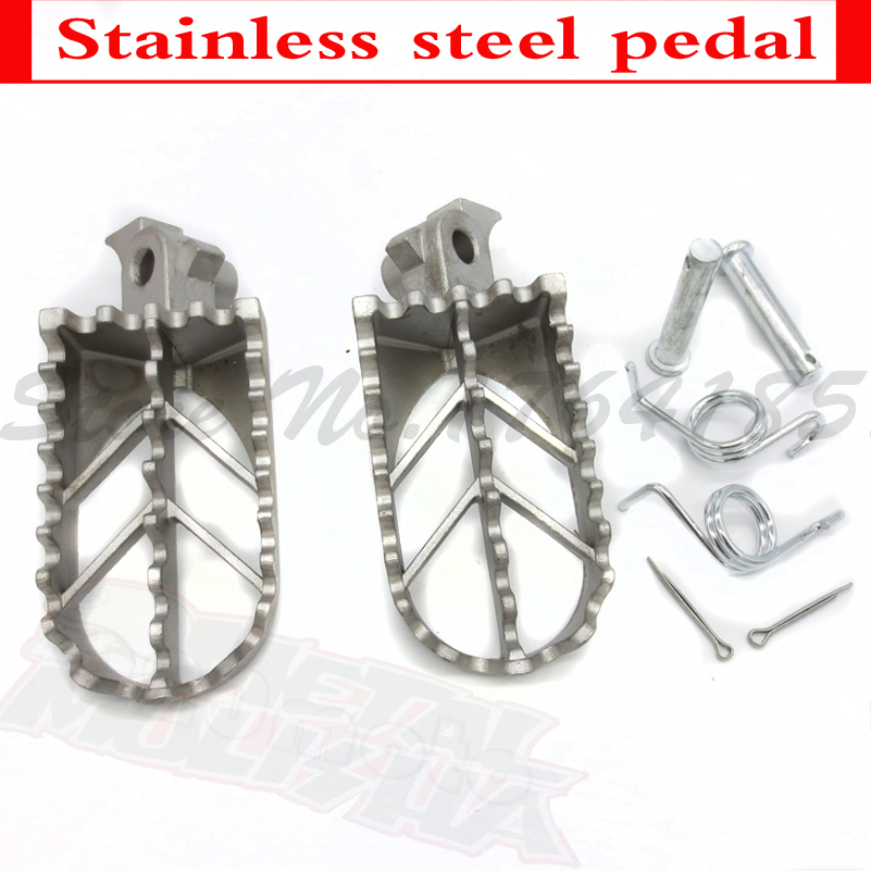 XLJOY Stainless Steel Foot Peg Rest Footpegs For KAWASAKI KLX110 2002-2011 2012 2013