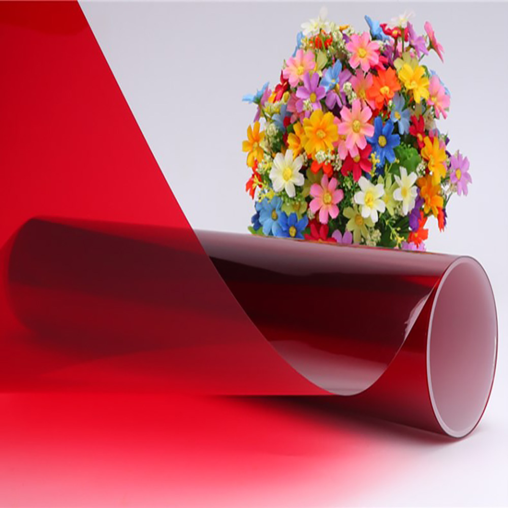 HOHOFILM 1x3 m rouge décoratif fenêtre Film feuille de verre autocollant pour maison bureau bâtiment verre autocollant 39.37 ''x 118'' Cool