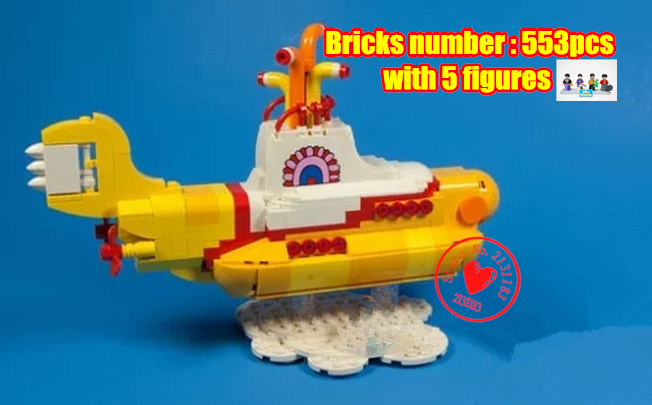 lepin 21012 Yellow Submarine model Building Blocks Bricks The Beatles John Lennon George Ideas Toy gift 21306 kid gift set herbert george wells the war of the worlds
