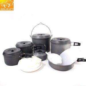 Image 2 - طقم أدوات طهي للتخييم 12 شخص طقم طهي للتنزه في الخارج وعاء للتنزه BL200 C10