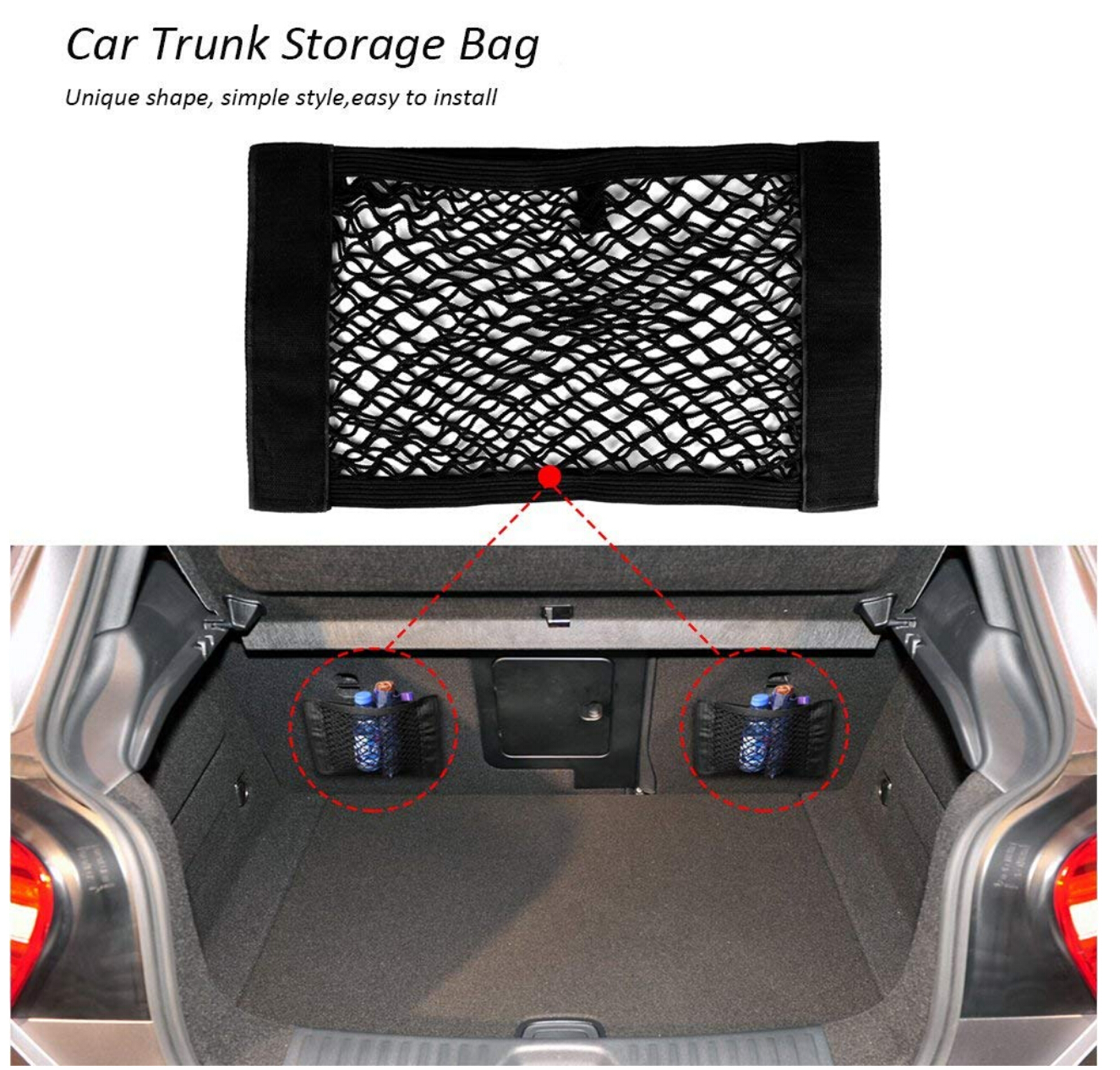 Image 2 - Car Trunk Box Storage Bag Mesh Net Bag Sticker For BMW F20 F21 F31 G31 F11 E61 E60 X1 F48 X2 F39 X3 G01 F25 E83 Accessories-in Car Stickers from Automobiles & Motorcycles