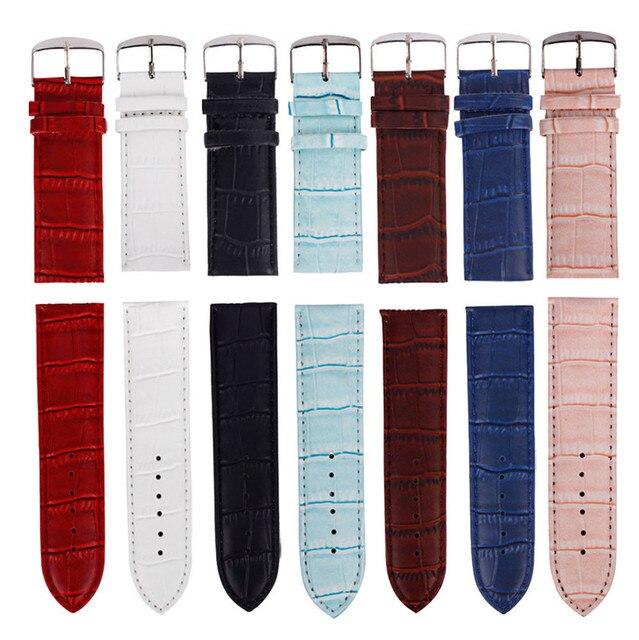 Высококачественный ремешок для часов 12 мм, 14 мм, 16 мм, 18 мм, 20 мм, 22 мм, 26 мм мягкий спортивный кожаный ремешок стальной пряжка наручные часы хит продаж
