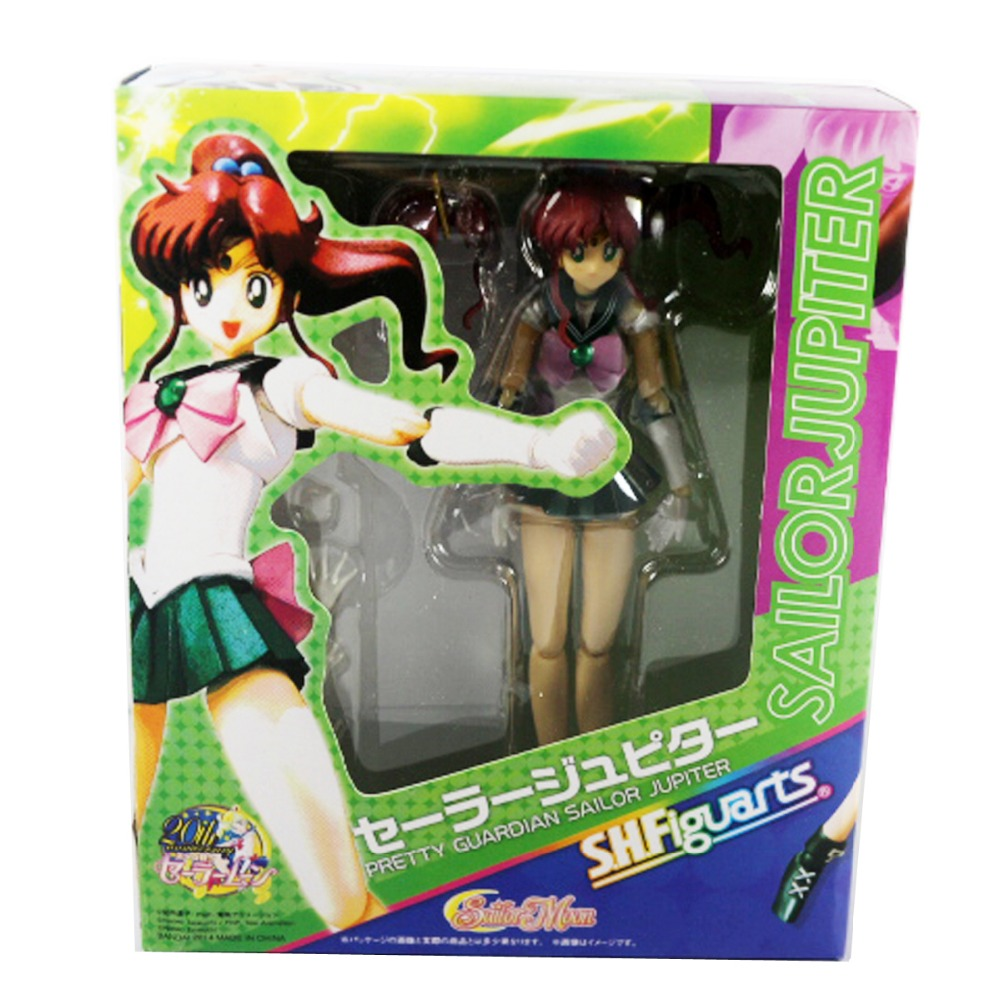 S.H.Figuarts Sailor Moon Pretty Guardian Jupiter 15cm/6 Action Figure New in Box Free Shipping