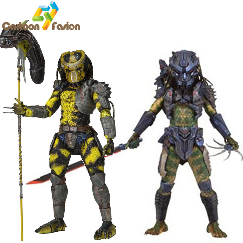 NECA AVP Aliens vs Predator 7 Toy Action Figures Wasp Predator Elder Predator Action Figure Collectible Model Toy neca aliens vs predator 7 inches 21cm lone wolf predator