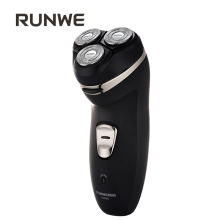 RUNWE Rechargeable Men's Razor Electric Shaver 220V Shaving Machines For Men Rasoir electrique homme 3D Triple Floating Blade