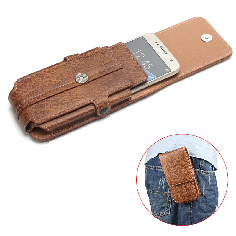 "Outdoor Stone Pattern PU Leather Case For lenovo k3 note a7000 k5 vibe p1 x3 5.5"" Below Wallet Cover Belt Pouch Holster Bag"