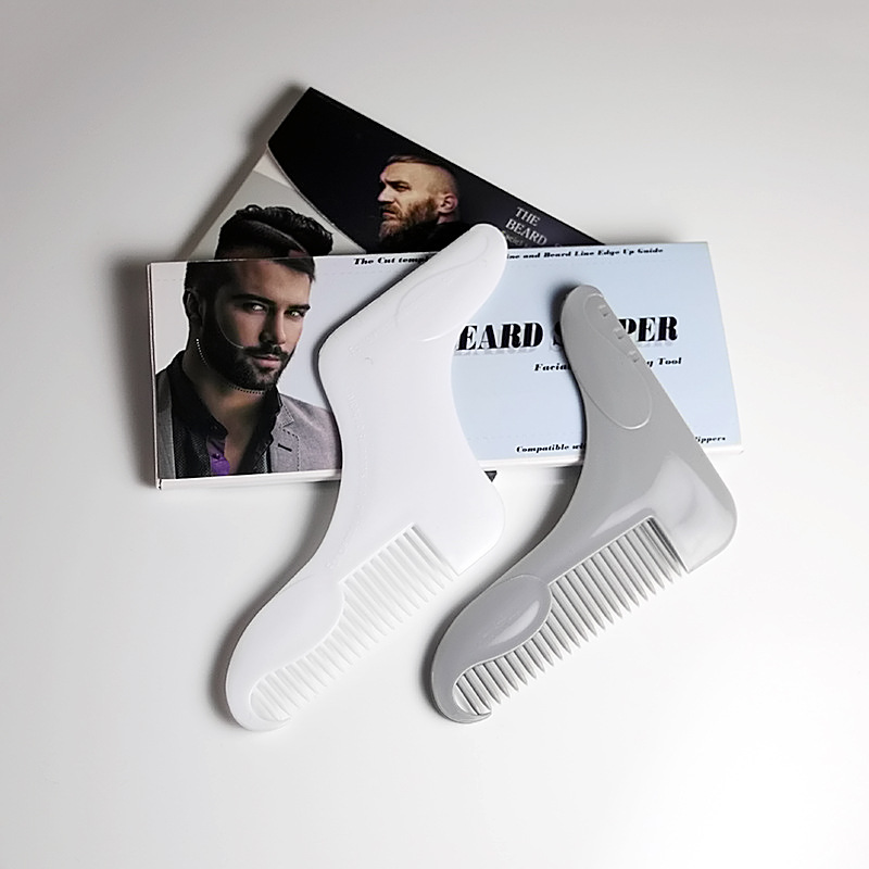 1PC Beard Styling Template Stencil Beard Comb for Men Lightweight and Flexible Fits All-In-One Tool Beard Shaping Tool