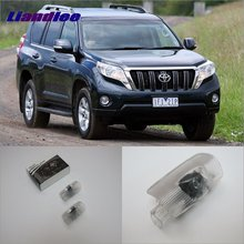 Liandlee For Toyota Prado 2004~2015 Door Ghost Shadow Lights Car Brand Logo LED Projector Welcome Light Courtesy Doors Lamp liandlee car door ghost shadow lights for acura mdx acura zdx courtesy doors lamp brand logo led projector welcome light