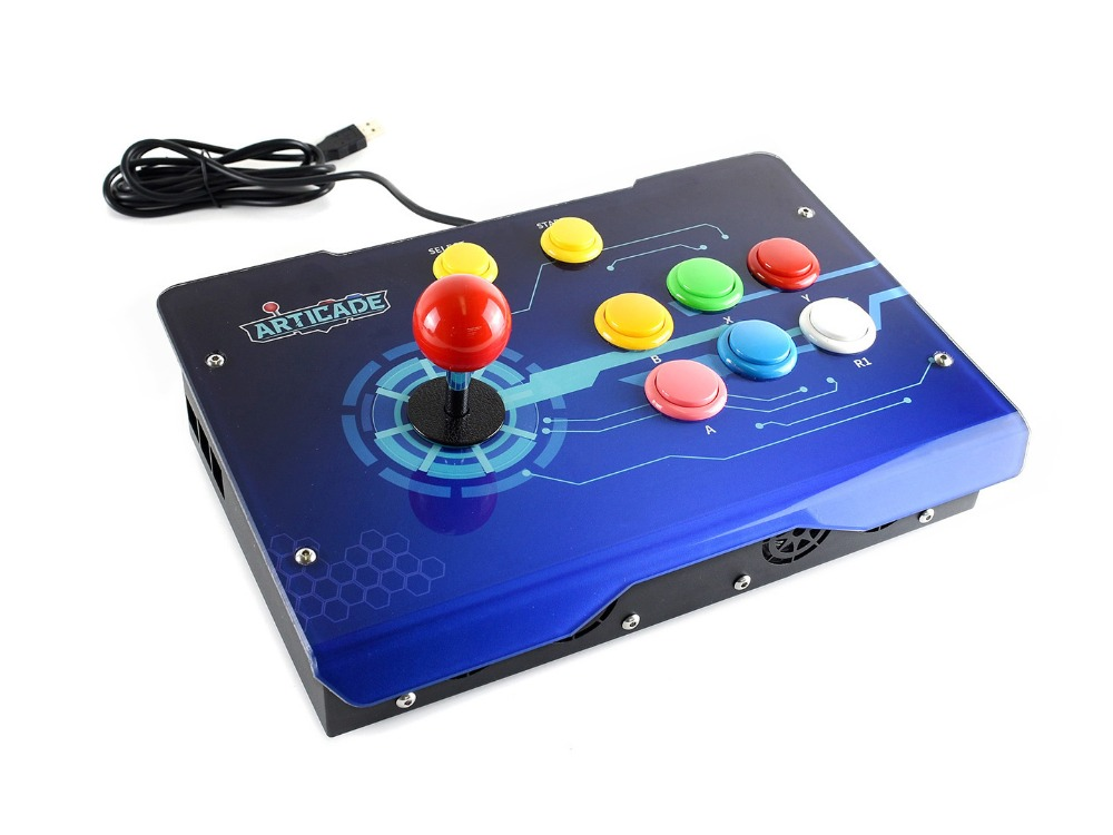 Image 4 - Waveshare Arcade D 1P USB Arcade Control Box for Raspberry Pi/PC/Notebook/OTG Android Phone/Tablet/Smart TV 1 Player-in Demo Board from Computer & Office