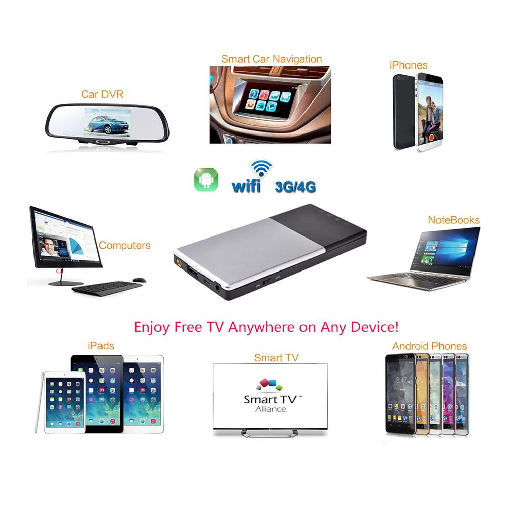 satellite tv receiver DVB-t2 HD Wireless TV Box Mobile TV Box DVB-T/T2 Mobile Digital TV Receiver Portable FOR iOS/Android dvb t isdb digital tv box for our car dvd player