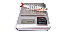 1pc 8 Sections Fishing Lure 0.689oz-19.54g/13.28cm-5.23″ Swimbait Fishing bait 6# Hook Fishing Tackle HS014