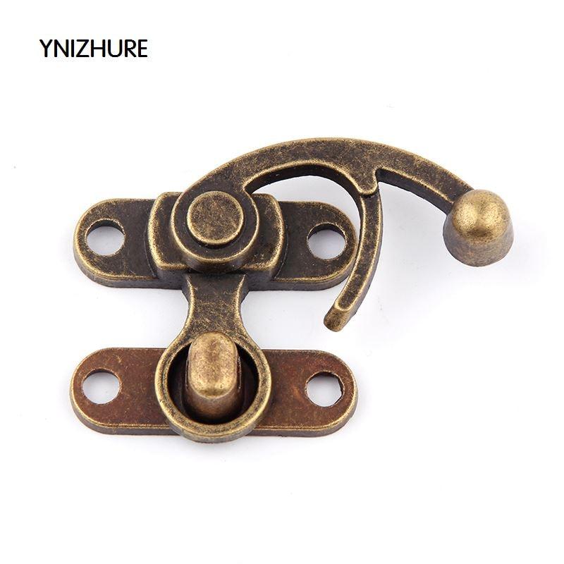 2Sets Jewelry Box Hasp Latch Lock Decorative Hasp Antique Bronze Pattern Carved 4.8cm x 4.5cm F1271