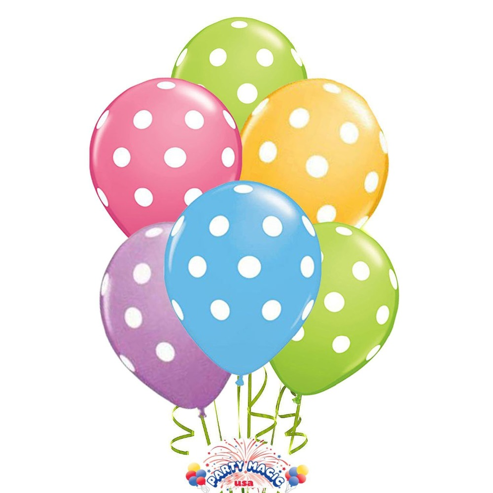 unidslote pulgadas polka dot globos de ltex impresos dot globos para decoracin