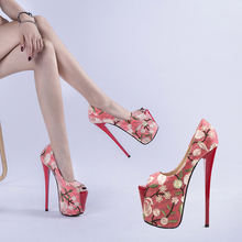 Shoes Woman Summer Platform Sandals Red Wedding Shoes Bride Sexy High Heel Ladies Luxury Sandal Embroidery Women's Pumps Shoes все цены