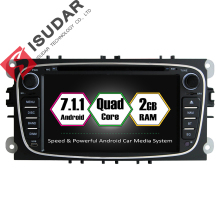 Android 7.1.1 Dos Din 7 Pulgadas de Coches Reproductor de DVD Para FORD Focus/S-MAX/Mondeo/C-MAX/Galaxy RAM 2G WIFI GPS de Navegación de Radio