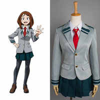 Boku ไม่มีฮีโร่ Academia My Hero Academia Cosplay OCHACO URARAKA Asui Tsuyu โรงเรียน Uniform ชุด Halloween Party เครื่องแต่งกาย