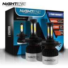 Nighteye 9005/HB3 9006/HB4 H4 9003 H7 H11 12 В Авто светодио дный фары комплект 6500 К 72 W/set 9000LM автомобилей туман лампы с