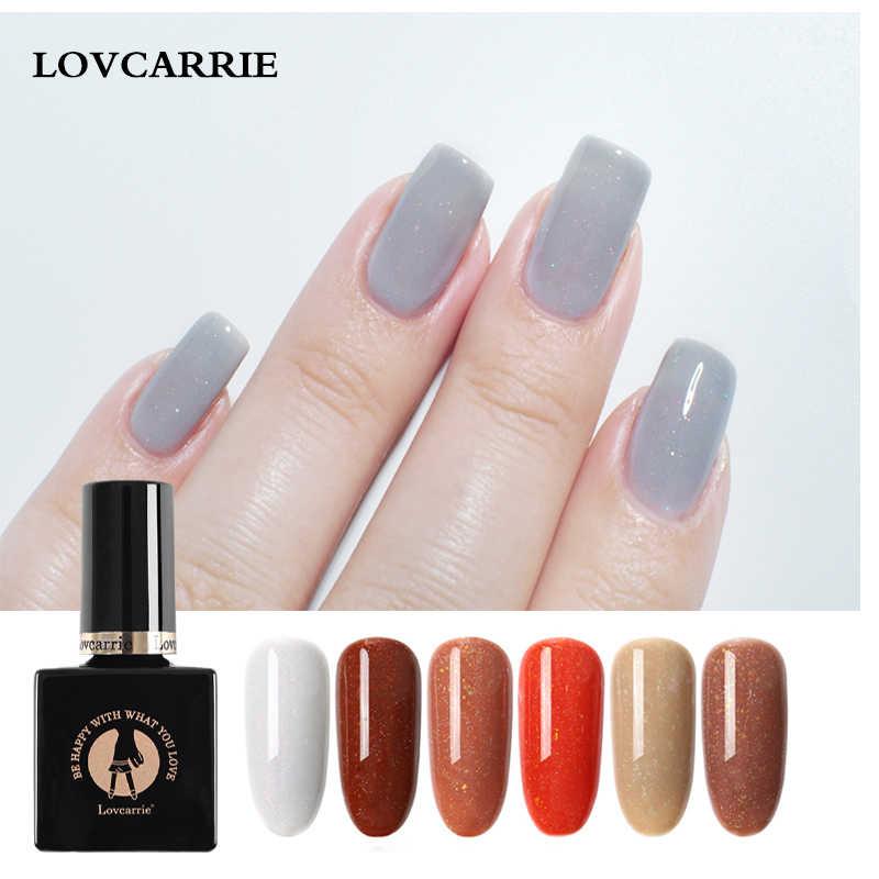 LOVCARRIE 10ML esmalte de uñas de Gel uv manicura Gel barniz híbrido largo uso remojo de Gel laca Glitter Gel Color pálido francés gelpolaco